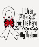 Lung Cancer Ribbon Hero My Husband T-shirt