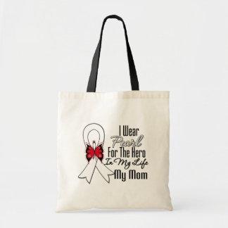 Lung Cancer Ribbon Hero My Mom Budget Tote Bag