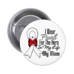 Lung Cancer Ribbon Hero My Mom Buttons
