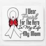 Lung Cancer Ribbon Hero My Mom Mouse Pad
