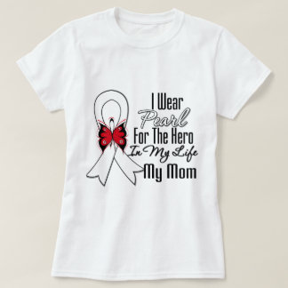 Lung Cancer Ribbon Hero My Mom T-Shirt