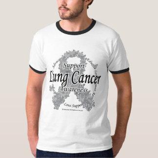 Lung Cancer Ribbon of Butterflies T-Shirt