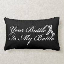 Lung Cancer Ribbon Pillow for Chemotherapy