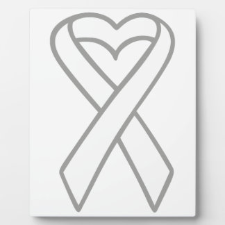 LUNG CANCER RIBBON DISPLAY PLAQUES