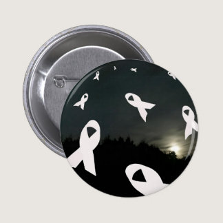 Lung Cancer Ribbons over a Night Sky Pinback Button