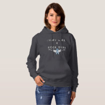 Lung Cancer Rock Star Ladies Hoodie