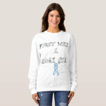 Lung Cancer Rock Star Ladies Sweatshirt