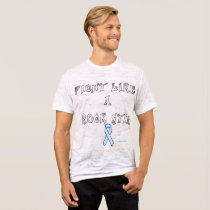 Lung Cancer Rock Star Men's Burnout T-Shirt