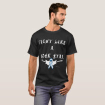 Lung Cancer Rock Star Men's Dark T-Shirt