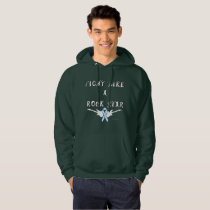 Lung Cancer Rock Star Men's Hoodie