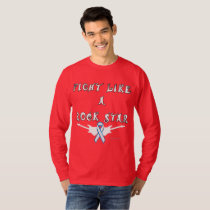 Lung Cancer Rock Star Men's Long Sleeve Shirt