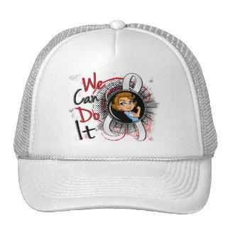 Lung Cancer Rosie Cartoon WCDI.png Trucker Hat