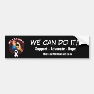 Lung Cancer - Rosie The Riveter - We Can Do It Car Bumper Sticker