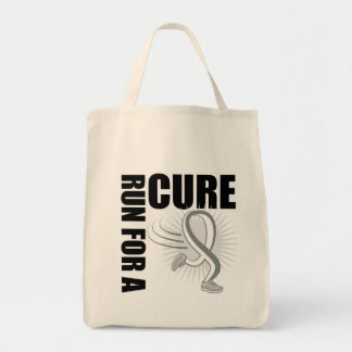 Lung Cancer Run For A Cure Grocery Tote Bag