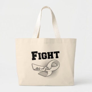 Lung Cancer Sporty Fight Like A Girl Tote Bag