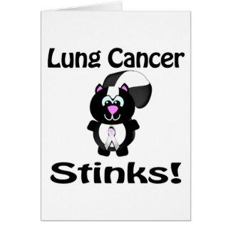 Lung Cancer Stinks Skunk Awareness Design Cards