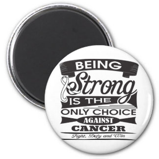 Lung Cancer Strong is The Only Choice Refrigerator Magnets