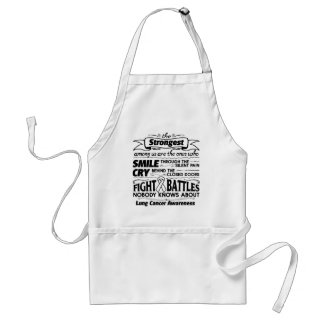 Lung Cancer Strongest Among Us Adult Apron