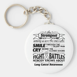 Lung Cancer Strongest Among Us Keychain