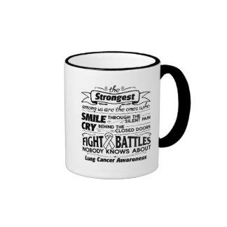 Lung Cancer Strongest Among Us Ringer Mug
