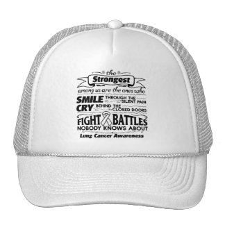 Lung Cancer Strongest Among Us Trucker Hat