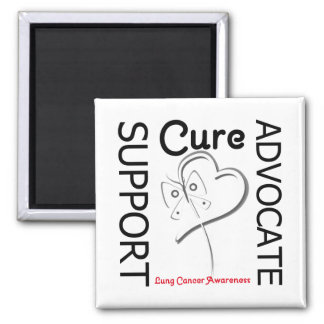 Lung Cancer Support Advocate Cure Fridge Magnet