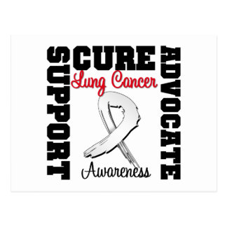 Lung Cancer Support Advocate Cure Postcard