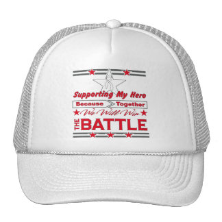 Lung Cancer Supporting My Hero Trucker Hat