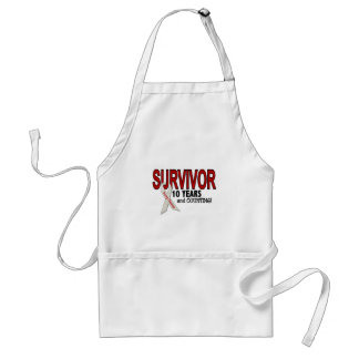 Lung Cancer Survivor 10 Years Adult Apron