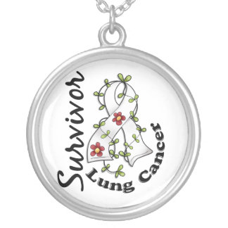 Lung Cancer Survivor 15 Round Pendant Necklace