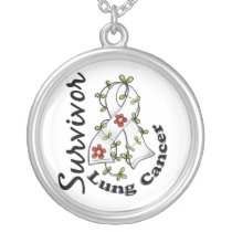 Lung Cancer Survivor 15 Silver Plated Necklace