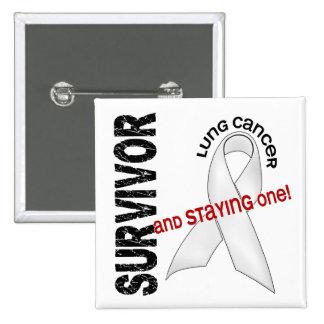 LUNG CANCER Survivor 1 Pinback Button