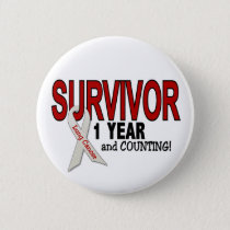 Lung Cancer Survivor 1 Year Pinback Button