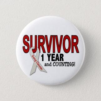 Lung Cancer Survivor 1 Year Pinback Button