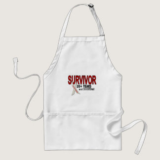 Lung Cancer Survivor 20  Years Adult Apron