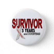 Lung Cancer Survivor 3 Years Button