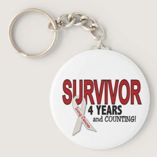 Lung Cancer Survivor 4 Years Keychain