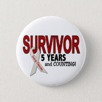 Lung Cancer Survivor 5 Years Pinback Button