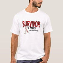 Lung Cancer Survivor 5 Years T-Shirt