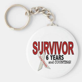 Lung Cancer Survivor 6 Years Basic Round Button Keychain