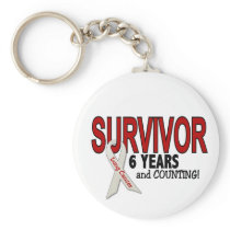 Lung Cancer Survivor 6 Years Keychain