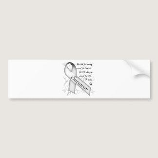 Lung Cancer Survivor Bumper Sticker