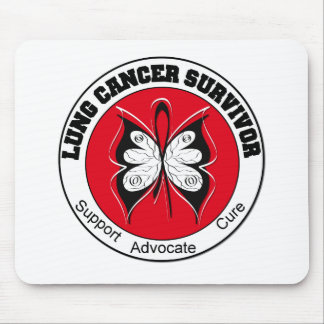 Lung Cancer Survivor Butterfly Mouse Pad