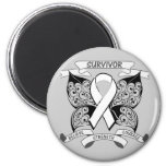Lung Cancer Survivor Butterfly Strength Refrigerator Magnets