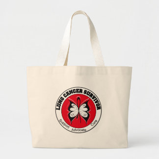 Lung Cancer Survivor Butterfly Tote Bags
