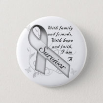 Lung Cancer Survivor Button