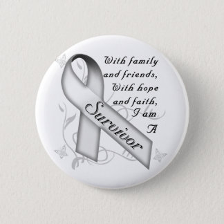 Lung Cancer Survivor Button