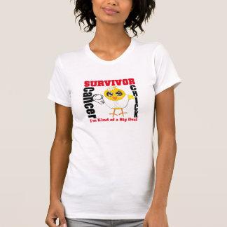 Lung Cancer Survivor Chick Ribbon Tee Shirt