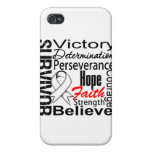 Lung Cancer Survivor Collage iPhone 4/4S Cases