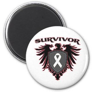 Lung Cancer Survivor Crest 2 Inch Round Magnet